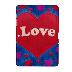 Love Theme Concept  Illustration Motif  Samsung Galaxy Tab 2 (10 1 ) P5100 Hardshell Case