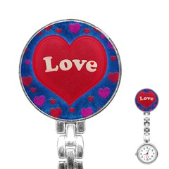 Love theme concept  illustration motif  Stainless Steel Nurses Watch