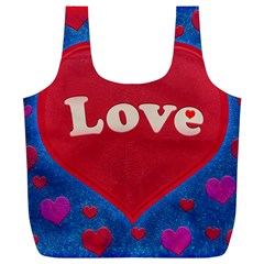Love theme concept  illustration motif  Reusable Bag (XL)