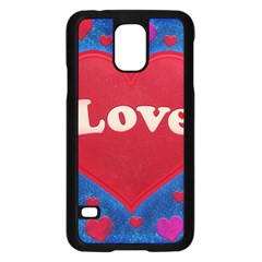 Love theme concept  illustration motif  Samsung Galaxy S5 Case (Black)