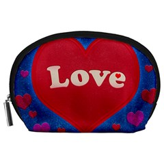 Love theme concept  illustration motif  Accessory Pouch (Large)