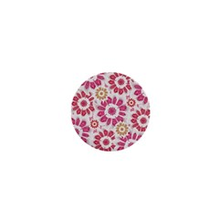 Feminine Flowers Pattern 1  Mini Button Magnet