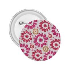 Feminine Flowers Pattern 2.25  Button