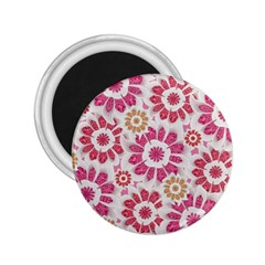 Feminine Flowers Pattern 2 25  Button Magnet