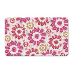 Feminine Flowers Pattern Magnet (rectangular)