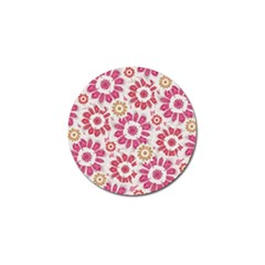 Feminine Flowers Pattern Golf Ball Marker 4 Pack