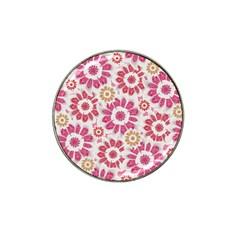 Feminine Flowers Pattern Golf Ball Marker (for Hat Clip)