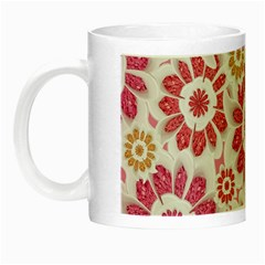 Feminine Flowers Pattern Glow in the Dark Mug