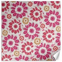 Feminine Flowers Pattern Canvas 16  x 16  (Unframed)