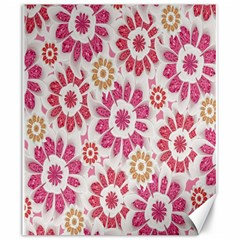 Feminine Flowers Pattern Canvas 20  x 24  (Unframed)
