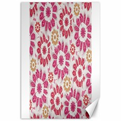 Feminine Flowers Pattern Canvas 20  X 30  (unframed)