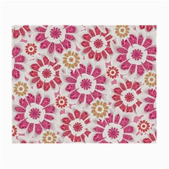Feminine Flowers Pattern Glasses Cloth (Small, Two Sided)