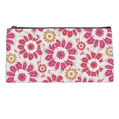 Feminine Flowers Pattern Pencil Case