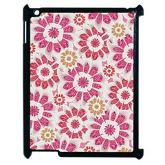 Feminine Flowers Pattern Apple iPad 2 Case (Black)
