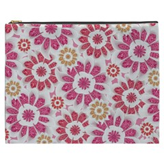 Feminine Flowers Pattern Cosmetic Bag (xxxl)