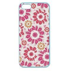 Feminine Flowers Pattern Apple Seamless Iphone 5 Case (color)