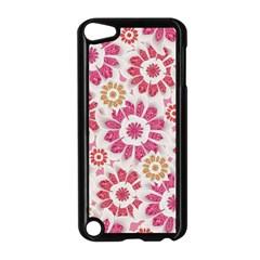 Feminine Flowers Pattern Apple iPod Touch 5 Case (Black)