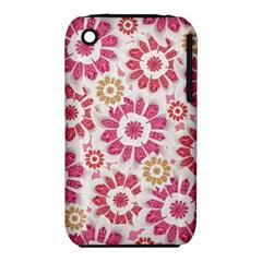 Feminine Flowers Pattern Apple Iphone 3g/3gs Hardshell Case (pc+silicone)