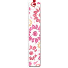Feminine Flowers Pattern Large Bookmark