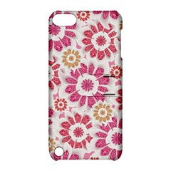 Feminine Flowers Pattern Apple Ipod Touch 5 Hardshell Case With Stand