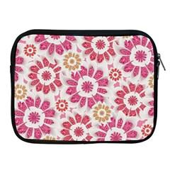 Feminine Flowers Pattern Apple iPad Zippered Sleeve