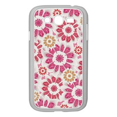 Feminine Flowers Pattern Samsung Galaxy Grand Duos I9082 Case (white)