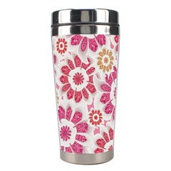 Feminine Flowers Pattern Stainless Steel Travel Tumbler