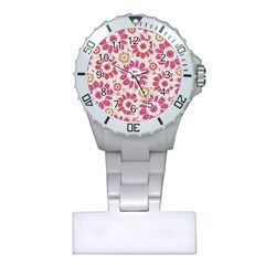 Feminine Flowers Pattern Nurses Watch