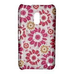 Feminine Flowers Pattern Nokia Lumia 620 Hardshell Case