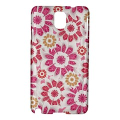 Feminine Flowers Pattern Samsung Galaxy Note 3 N9005 Hardshell Case