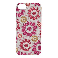 Feminine Flowers Pattern Apple iPhone 5S Hardshell Case