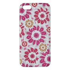 Feminine Flowers Pattern iPhone 5S Premium Hardshell Case