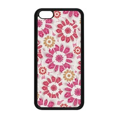 Feminine Flowers Pattern Apple Iphone 5c Seamless Case (black)