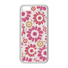 Feminine Flowers Pattern Apple Iphone 5c Seamless Case (white)