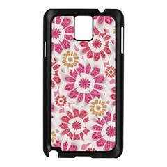 Feminine Flowers Pattern Samsung Galaxy Note 3 N9005 Case (black)