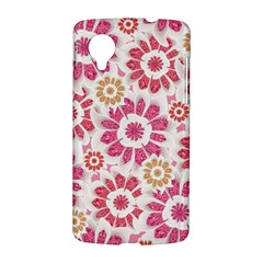 Feminine Flowers Pattern Google Nexus 5 Hardshell Case