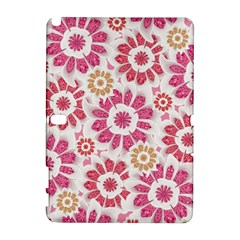 Feminine Flowers Pattern Samsung Galaxy Note 10.1 (P600) Hardshell Case