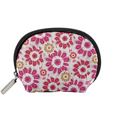 Feminine Flowers Pattern Accessory Pouch (small)