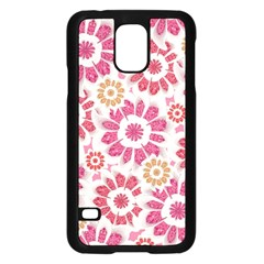 Feminine Flowers Pattern Samsung Galaxy S5 Case (Black)