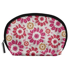 Feminine Flowers Pattern Accessory Pouch (Large)