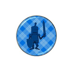 Blue Knight On Plaid Golf Ball Marker (for Hat Clip)