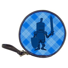 Blue Knight On Plaid Cd Wallet