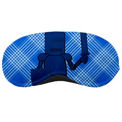 Blue Knight On Plaid Sleeping Mask
