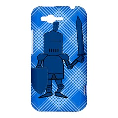 Blue Knight On Plaid HTC Rhyme Hardshell Case
