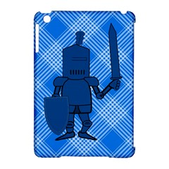 Blue Knight On Plaid Apple Ipad Mini Hardshell Case (compatible With Smart Cover)
