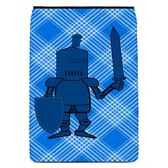 Blue Knight On Plaid Removable Flap Cover (Small)