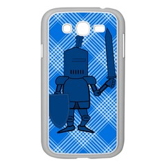 Blue Knight On Plaid Samsung Galaxy Grand DUOS I9082 Case (White)