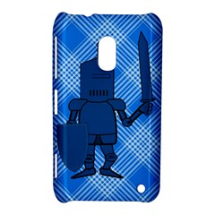 Blue Knight On Plaid Nokia Lumia 620 Hardshell Case
