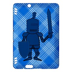 Blue Knight On Plaid Kindle Fire HDX 7  Hardshell Case