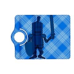 Blue Knight On Plaid Kindle Fire Hd 7  (2nd Gen) Flip 360 Case